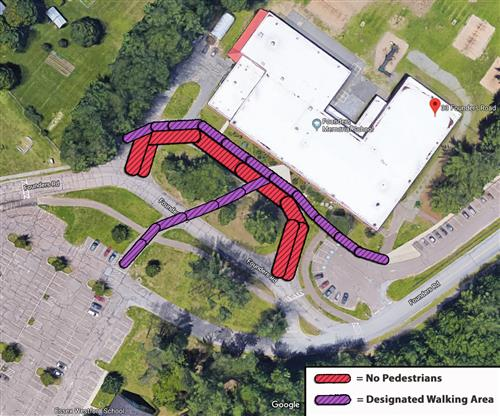 FMS pedestrian/walking area map