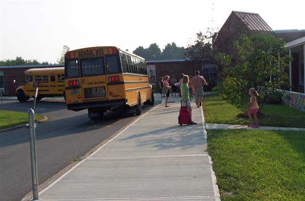 School Bus arrives