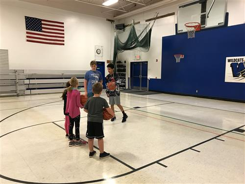 AWOD working with Ms. Richardson's class on shooting