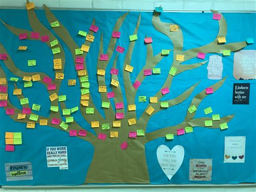 AWOD created a tree for students to post kind words