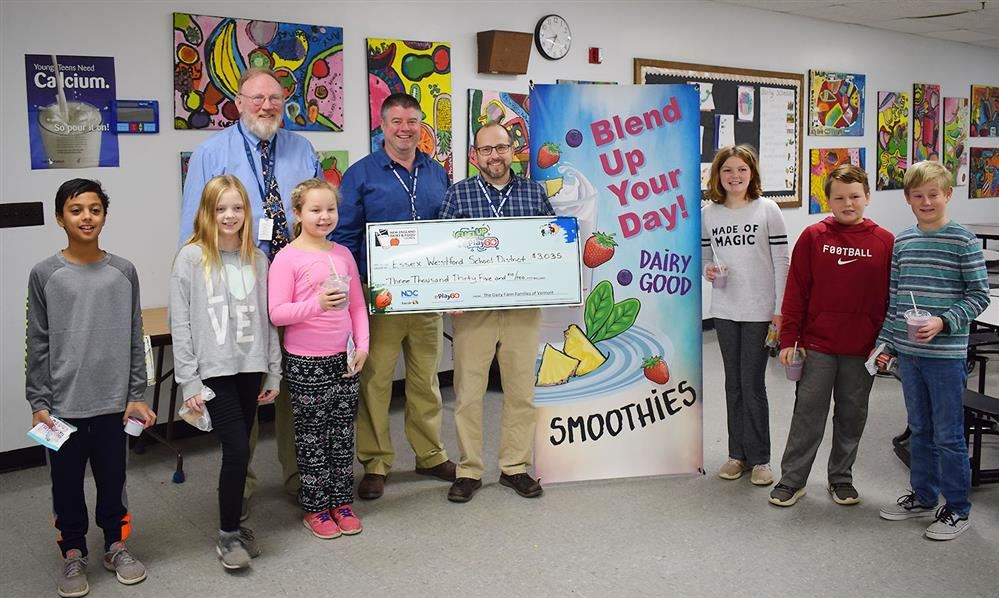 The Child Nutrition Services program recently received a grant from the New England Dairy & Food Council
