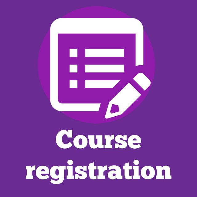 Text image that reads: Course Registration
