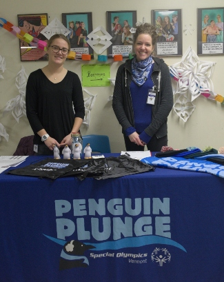 Penguin plunge sign up table