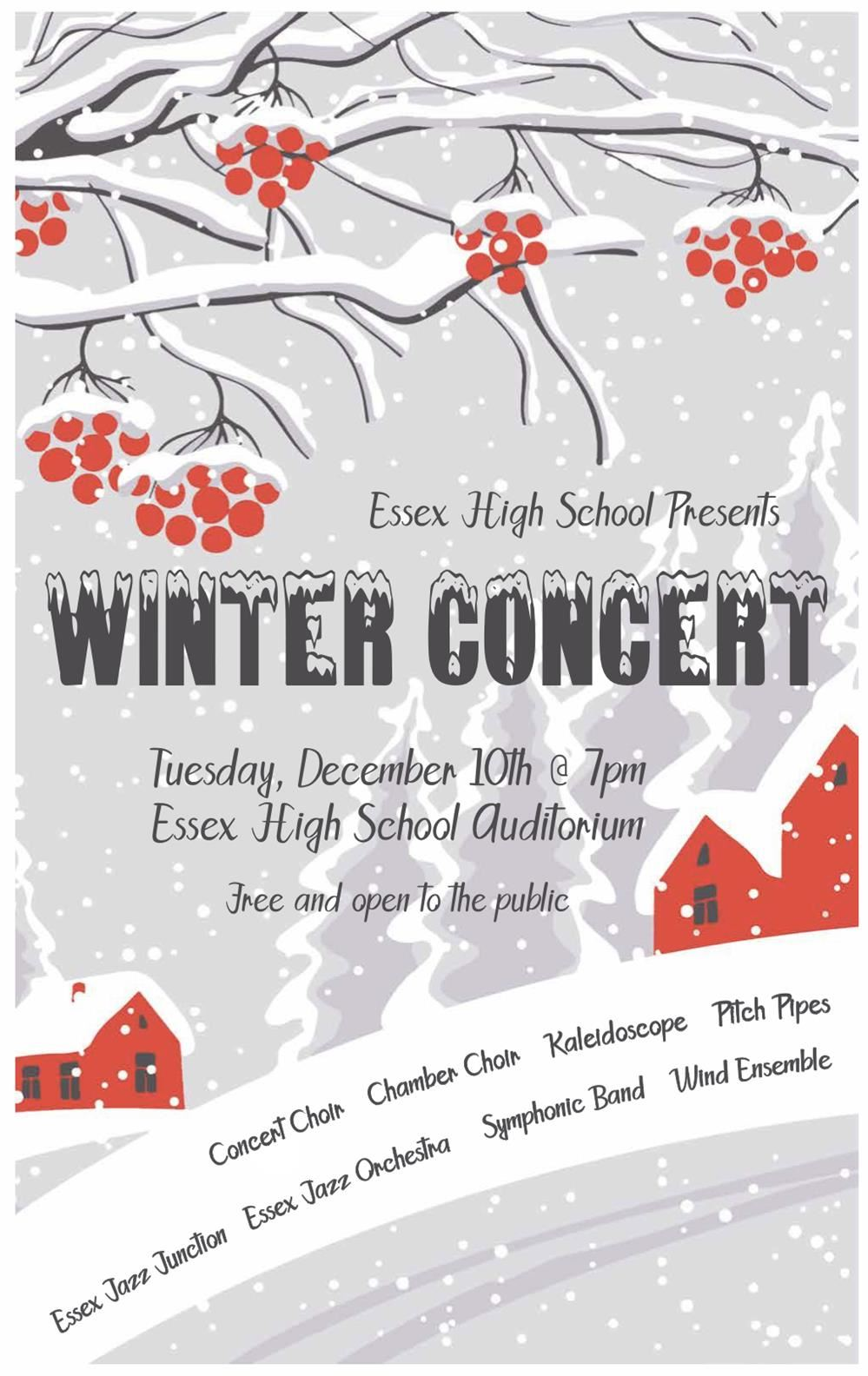 Flyer for Winter Concert