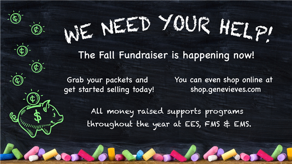 Fall Fundraiser runs September 8 - 29.