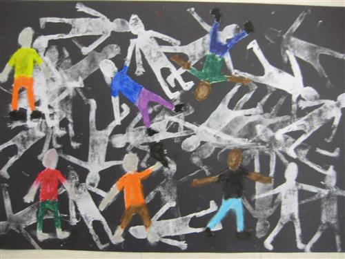 Printmaking: Crowd of Figures
