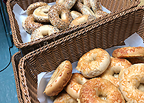 Bagels in baskets