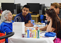 CTE Students and Staff Give Back to Seniors As Part of Community Days