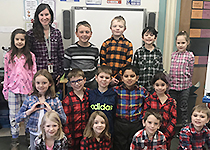 EWSD students and staff wearing flannel