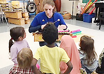 Preschoolers learning music