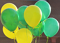Yellow and green balloons