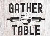 Gather at the Table community dinner logo
