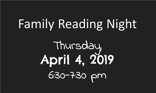 Family Reading Night program at EES