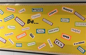 Bulletin Board with Words